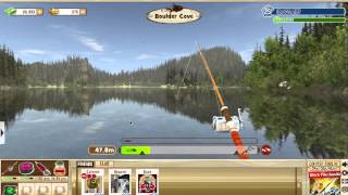 Catching a giant trout in The Fishing Club