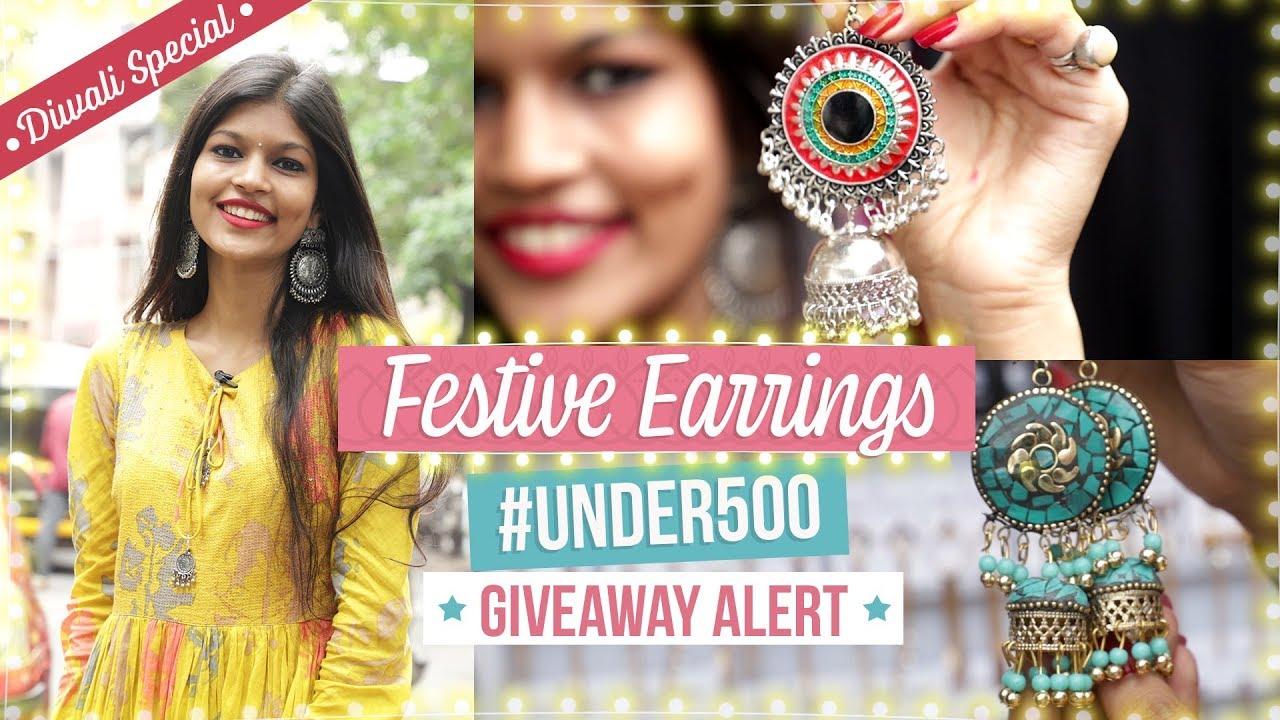 Festive Earrings Under 500  | Giveaway Alert | Diwali Special | Fashion | Lifestyle | Pinkvilla
