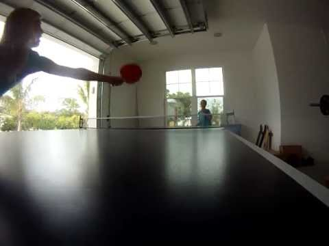 Avery Aydelotte and Forrest Miller Go-Pro pingpong