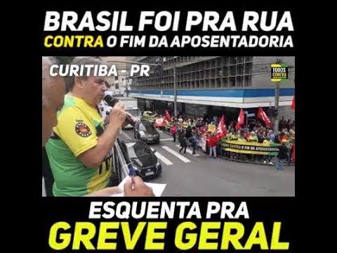 Brasil foi pra rua contra o Fim da Aposentadoria