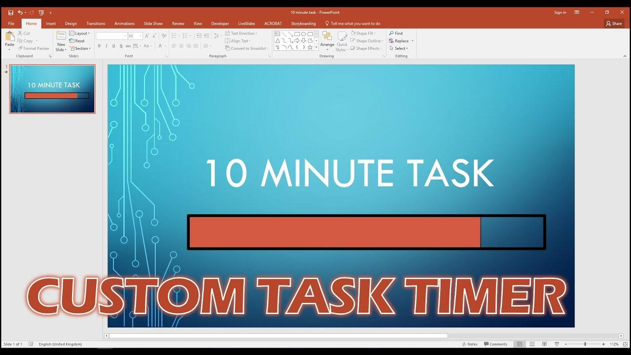 create a custom progress bar timer in powerpoint - youtube, Presentation templates