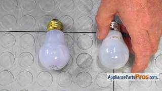 Refrigerator Light Bulb (part #241555401) - How To Replace