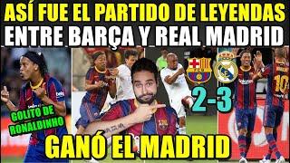 BARÇA LEGENDS 2-3 MADRID LEGENDS - DUELO de LEYEND