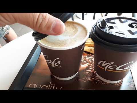 Drink McCafe Latte At McDonald's Petronas Bukit Tinggi Klang