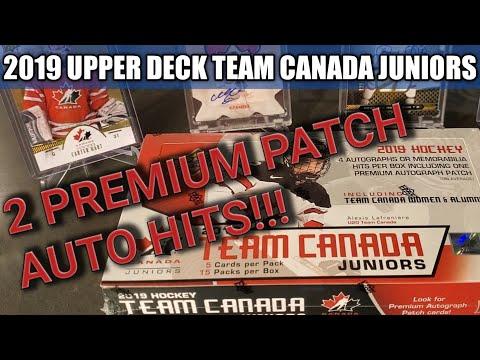2 FILTHY PATCH AUTOS!!! 2019 Team Canada Juniors Hockey Box Break