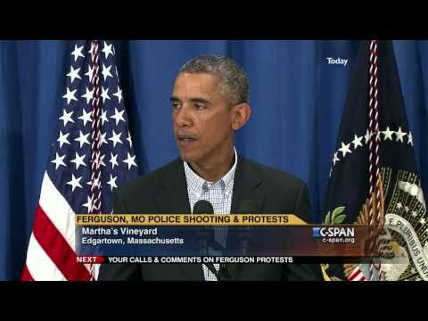 President Obama on Ferguson Shooting & Protests (C-SPAN)