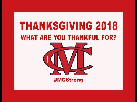 2018 2019 MCS Thanksgiving Video