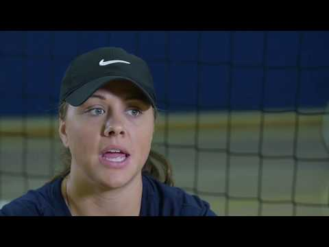 Team Navy Sitting Volleyball Coach on Adaptive Sports