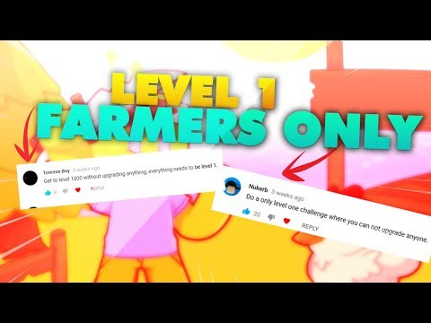 [Roblox] Egg Farm Simulator: LEVEL 1 FARMERS ONLY (CHALLENGE 2)