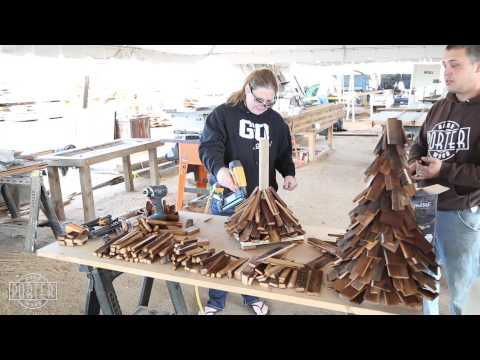 DIY Build a Barn Wood Christmas tree Workshop
