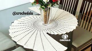 centrocaminho de mesa espiral em crochê
