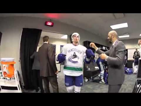 Vancouver Canucks locker room celebration – Round 2 win