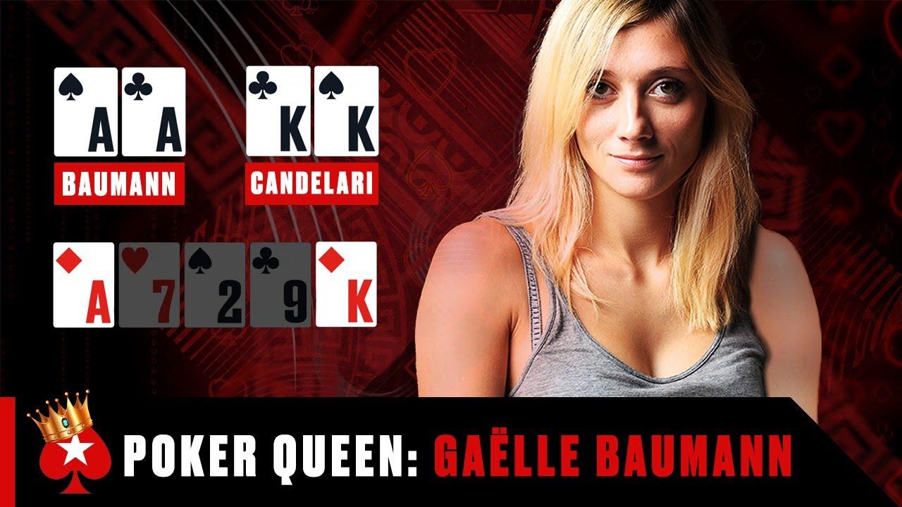 THE BEST POKERFACE😎 - Gaëlle Baumann ♠️ Poker Queens ♠️ PokerStars