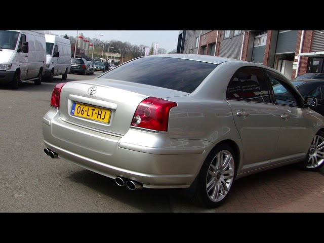 TOYOTA AVENSIS 1 8 DUPLEX EXHAUST SOUND SYSTEM SPORTUITLAAT   UITLAAT by www maxiperformance nl