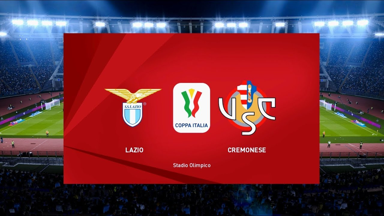 Lazio Vs Cremonese Stadio Olimpico   Coppa Italia Pes