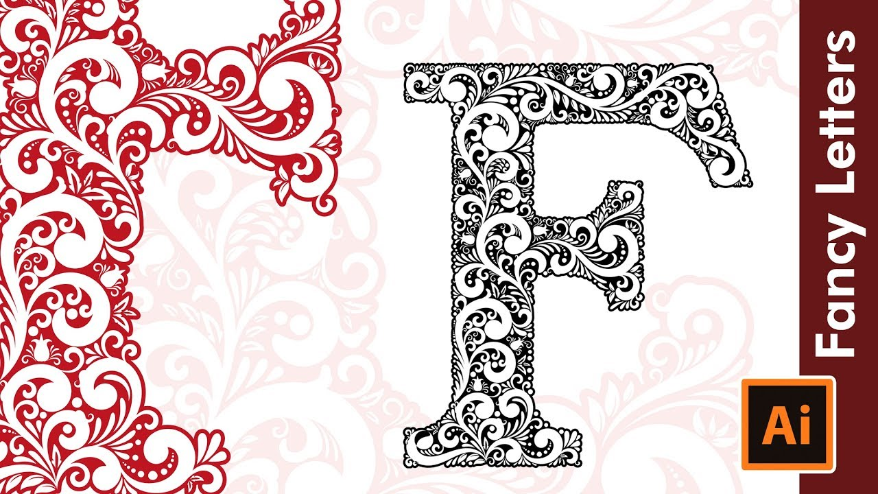 How To Draw Custom Fancy Type Letters - F - in Adobe ...