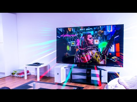 "Living Room PC Gaming Setup - LG 86"" 4K 120Hz Large NanoCell TV"