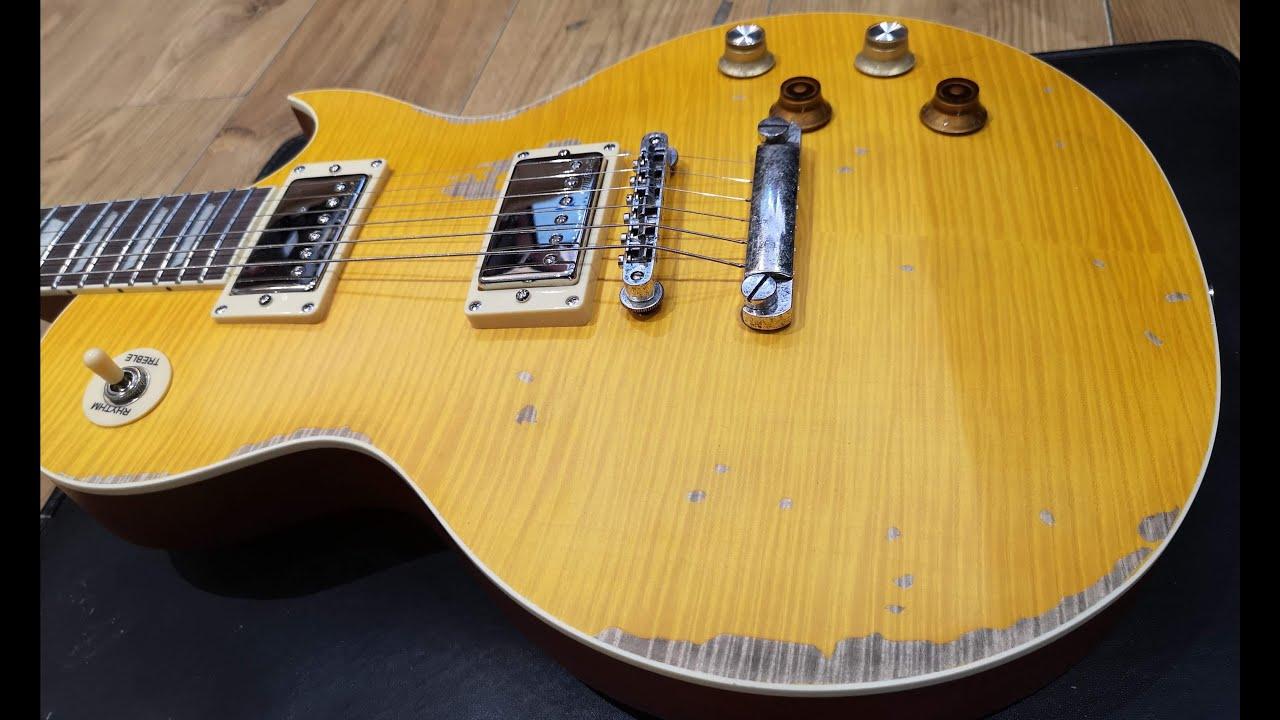 Vintage V100 Prg Lemon Drop Solid Body Guitar Demo Youtube