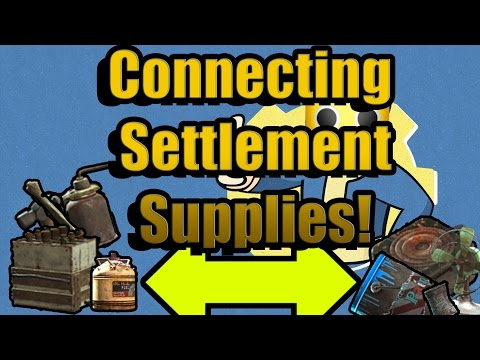 Fallout 4 - Supply Lines, How to Share Supplies Between Settlements! (Fallout 4 Guide)