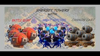 SHERBET TOWERS WITH BATTLE BLIMP, NIGHT WITCHES AND CANNON CART