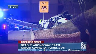 Deadly wrong-way crash kills one in Airport Connector Tunnel