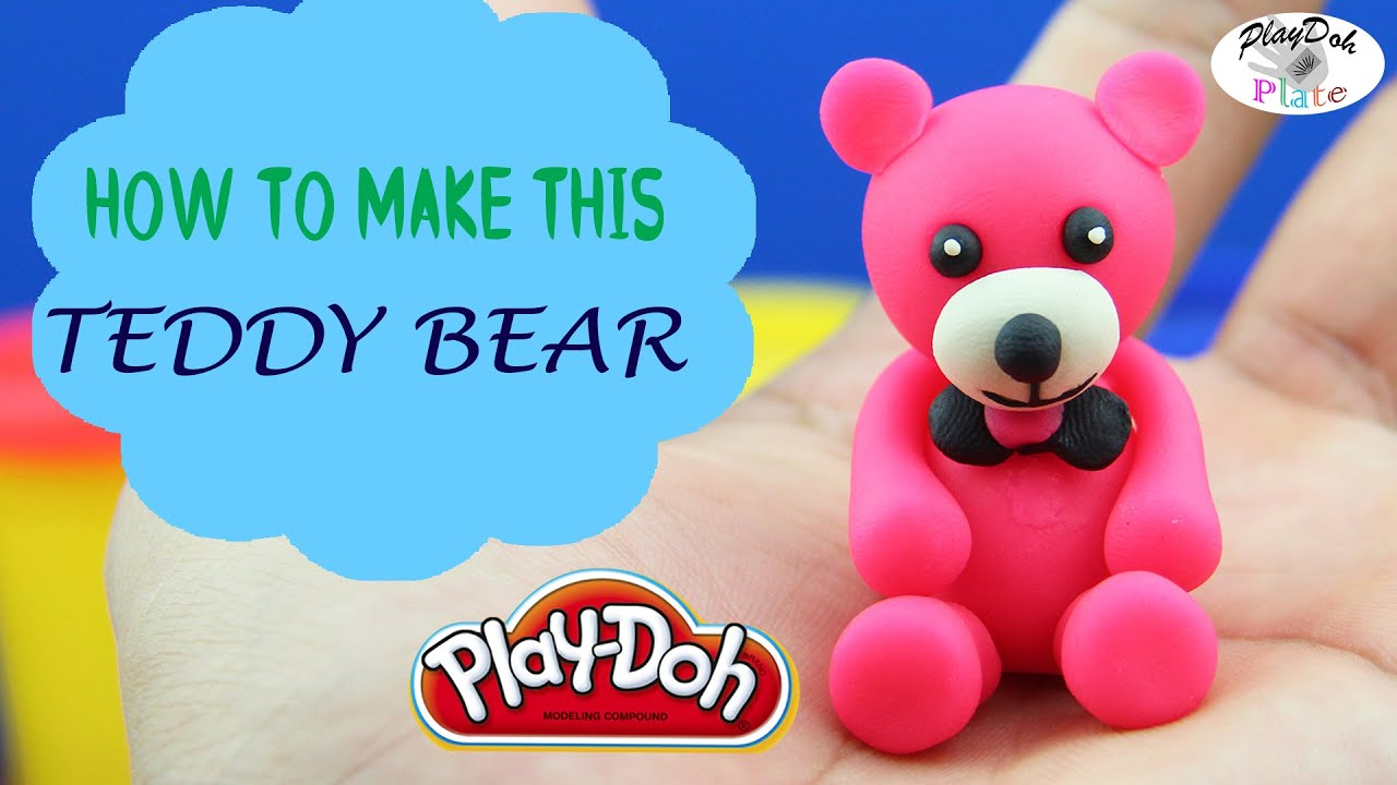 Teddy bear play doh learn how to make a cute teddy bear with play teddy bear play doh learn how to make a cute teddy bear with play doh episode 25 youtube altavistaventures Images