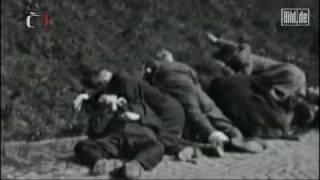 Repeat youtube video Neues Filmmaterial zeigt Hinrichtung deutscher Vertreibungsopfer (Bild.de)