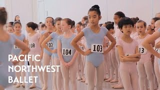 Young Dancers Audition for Nutcracker (Pacific Northwest Ballet)