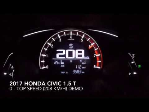 Honda Civic 1.5 Turbo Top Speed From 0 - 208 km/h - YouTube