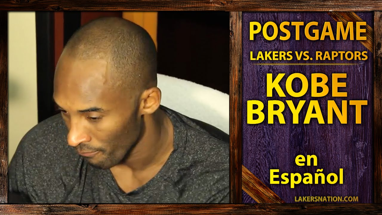 Lakers vs. Raptors: Kobe Bryant Speaks Spanish (Kobe En Español ...
