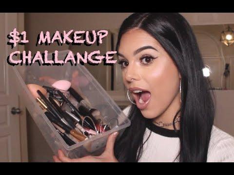 FULL FACE $1 Dollar Makeup Challange  |  Shop Miss A   |   alexzandyy