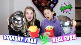 SQUISHY FOOD VS REAL FOOD CHALLENGE! +GIVEAWAY(gesloten)