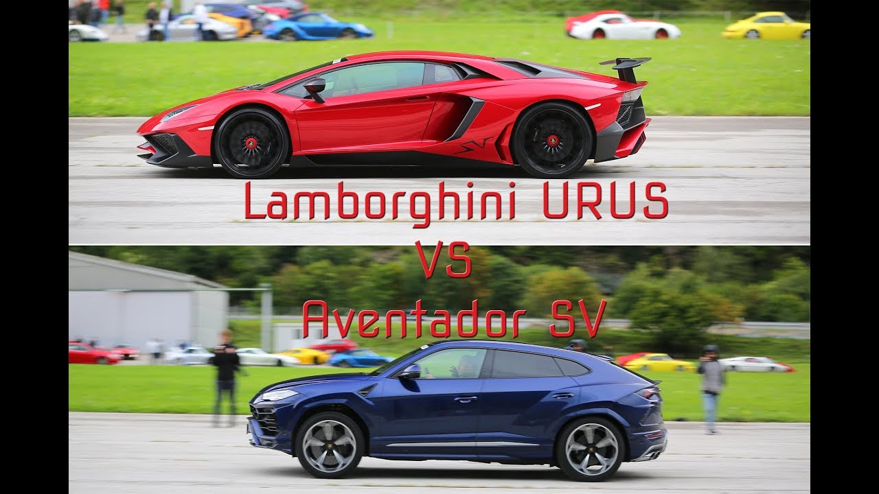 Lamborghini Urus Vs Aventador Sv Drag Race Youtube