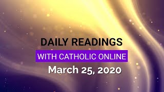 Gambar cover Daily Reading for Wednesday, March 25th, 2020 HD