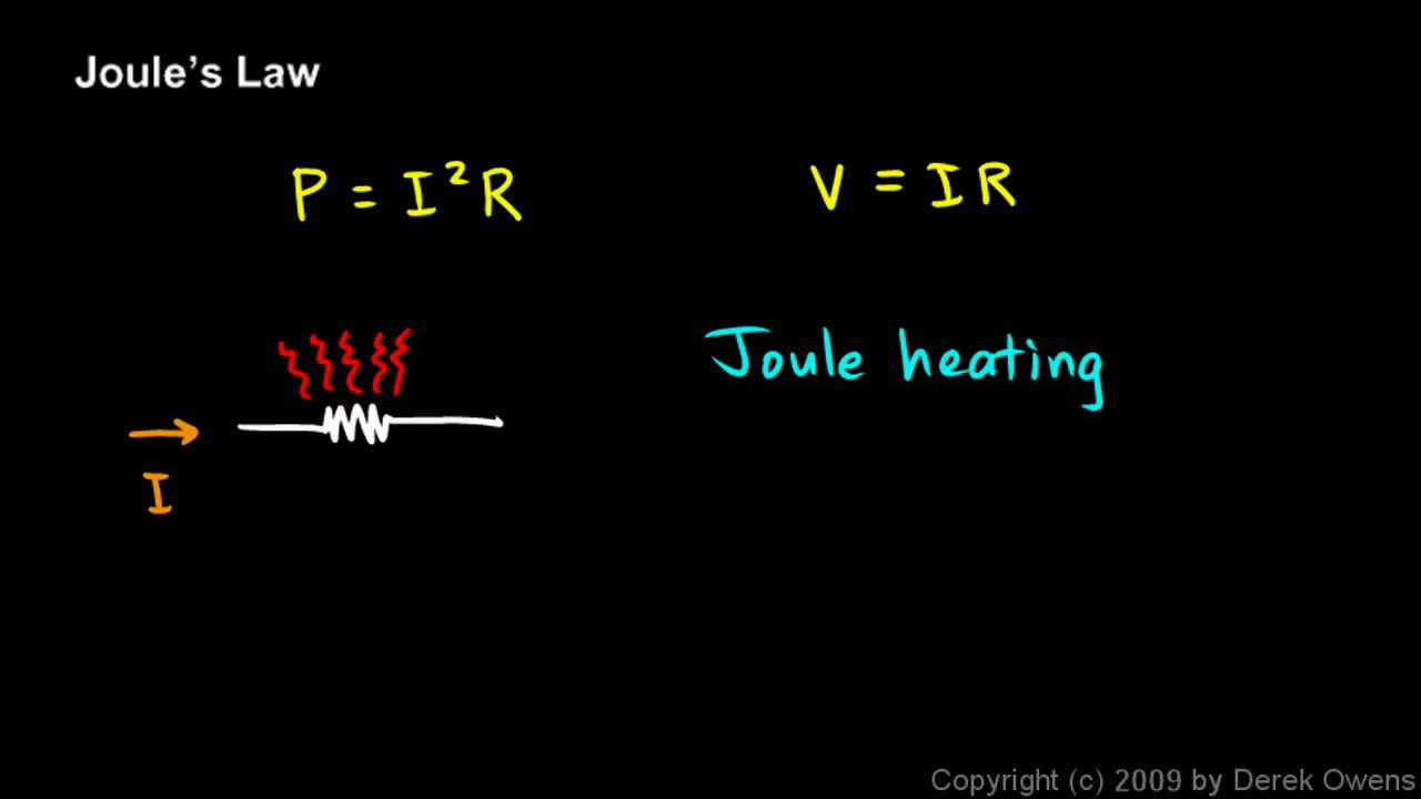 joule s law When an electric current is passed through a conductor, heat is produced after  some time which is called the heating effect of current this effect is also called as .
