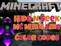 HideNSeek MC Minigame- how to use Color Codes
