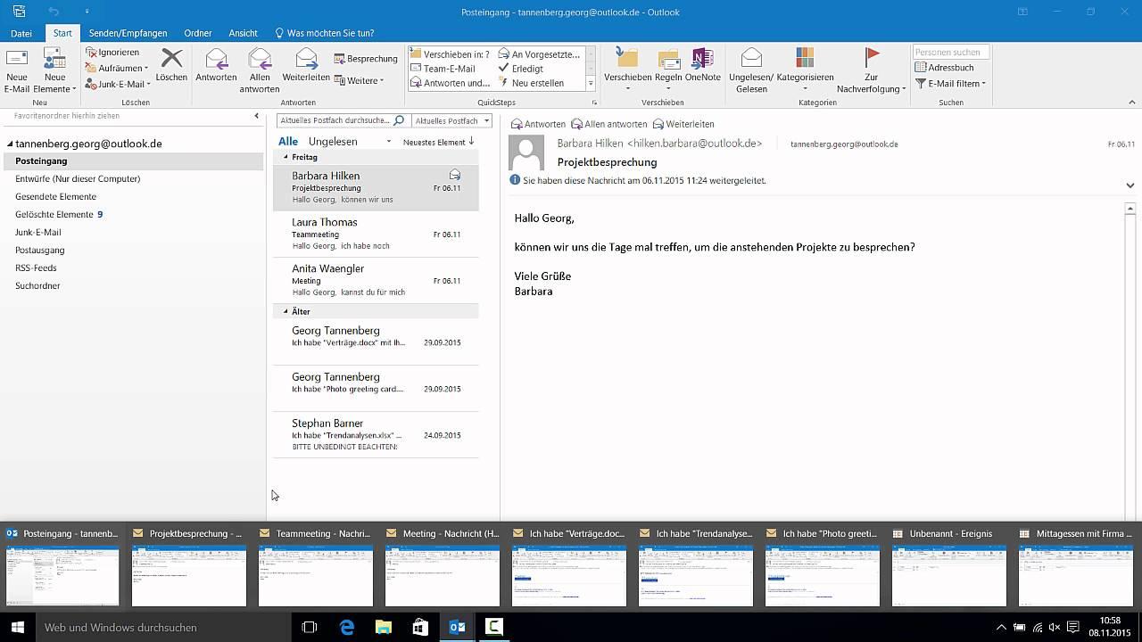Outlook 2016 - #1 Alle Fenster bis auf das Outlook App ...