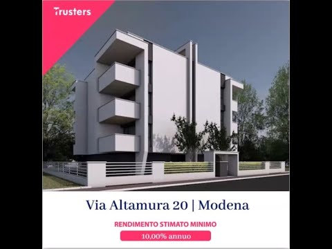 "Webinar Presentazione ""VIA ALTAMURA 20 | MODENA"""