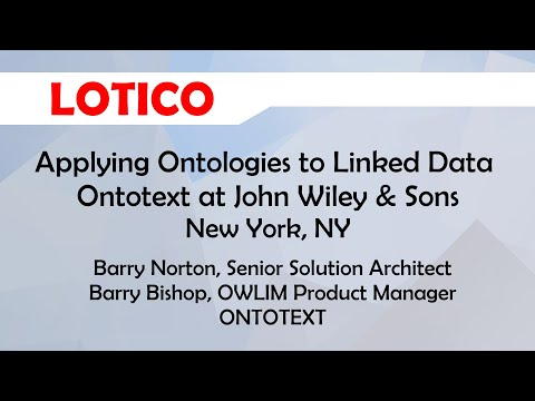 Applying Ontologies to Linked Data at John Wiley & Sons