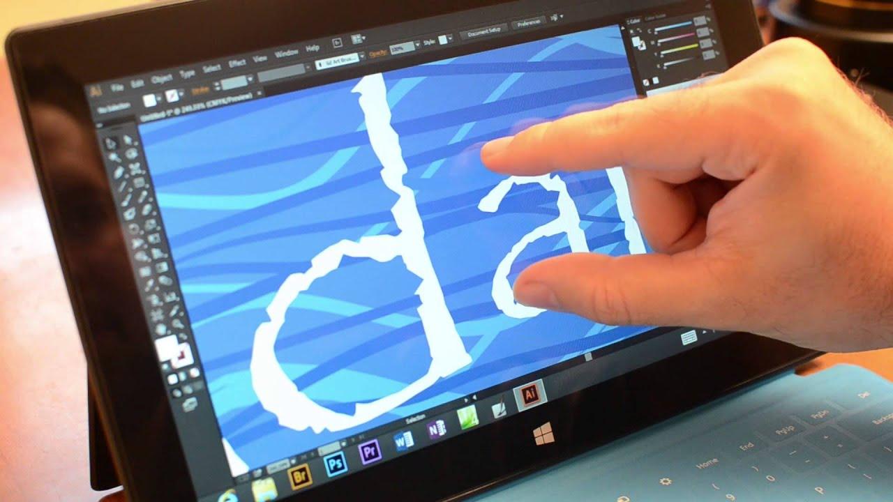 Photoshop CS6 on Microsoft Surface Pro - YouTube