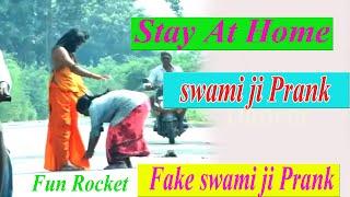 Fake Swami Ji  Prank  || funny pranks in telugu  #FunRocket
