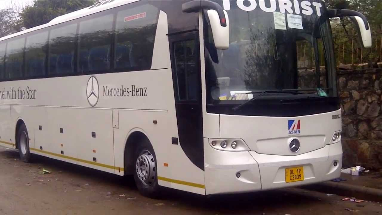 mercedes benz bus coaches hire delhi india youtube