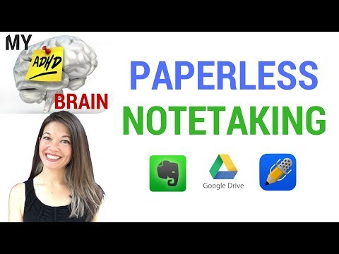 My ADHD Brain: Paperless Notetaking with Evernote, Google Drive and Notability Mp3