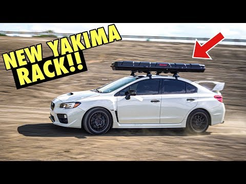 SUBARU STI YAKIMA ROOF RACK INSTALL (Best Fishing Setup Ever!) Rod/reel Carrier & Kayak Mount