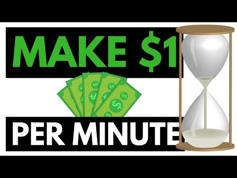 How To Make $1 Per Minute {Very Easy Money Method}