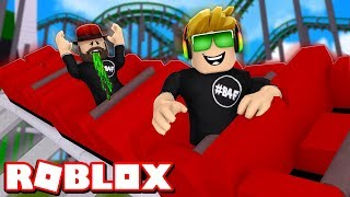 RIDING FASTEST ROLLER COASTER in ROBLOX POINT THEME PARK 2