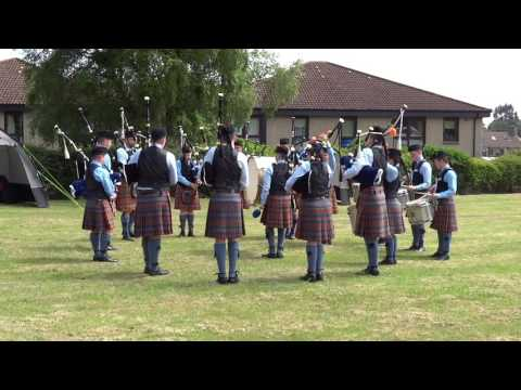 Bagpipes Pipe Band Competition Highland Games Markinch Fife Scotland