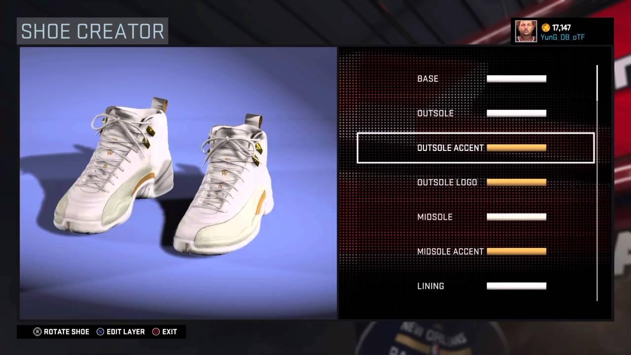 aa2a7d2766c095 NBA 2k16 Shoe Creator - Air Jordan 12