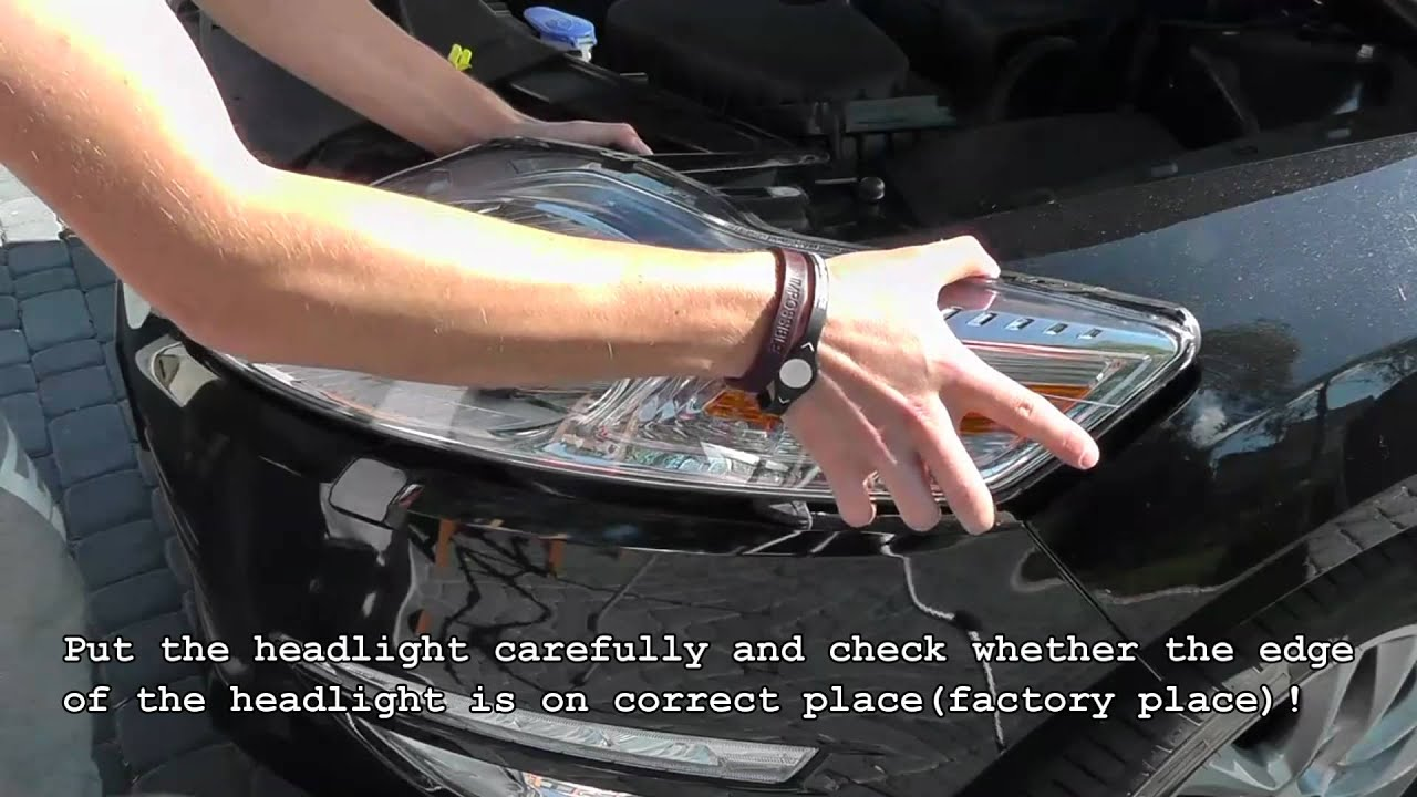 How To Disassemble Headlights Ford Mondeo Mk4 Youtube