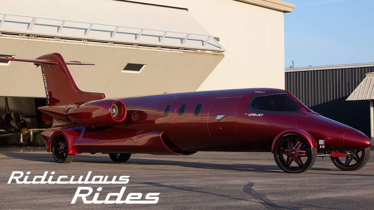 The 5 Million Learjet Limo Ridiculous Rides Youtube